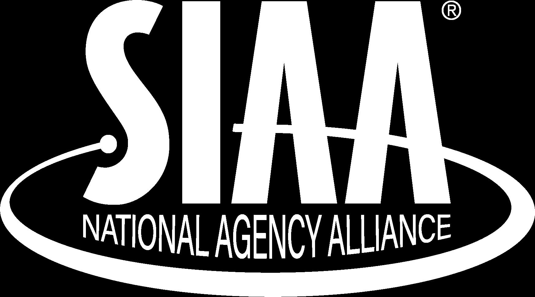 SIAA logo white